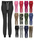 NEW LADIES ZIP UP PLAIN TRACKSUIT BOTTOMS WOMENS JOGGING PANTS SIZES 8 TO 14
