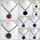 "Multi-color jade Yinyang beaded adjustable necklace 20"" to 30"""