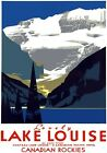 T58 Vintage Canada Canadian Lake louise Travel Poster Re-Print A1/A2/A3/A4