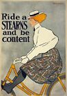 AV49 Vintage 1896 Stearns Bicycle Bike Advertisement Poster Re-Print A1/A2/A3/A4