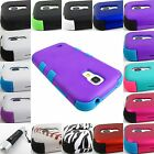 FOR SAMSUNG GALAXY S IV 4 S4 MINI SHOCK PROOF TUFF HYBRID CASE COVER+STYLUS/PEN