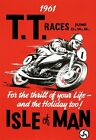AD71 Vintage 1960's Isle Of Man TT Motorbike Racing Poster Re-Print A2 A3 A4