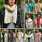 Fashion Women Unisex Warmer Soft Touch Knit Long Scarf Scarves Wrap 15 Colors