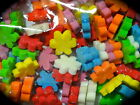 100 X Mixed Colour Pack HEARTS, FLOWERS or STARS Glittery Foam embellishments