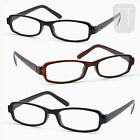 3 PAIRS NEW RIMMED READERS READING GLASSES BLACK & BROWN +1.5+2.0+2.50+3.00+4.0