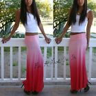 """FOLD OVER CORAL OMBRE """" Coral Reef """" BOHEMIAN TIE DYE MAXI SKIRT BEACH S M L"""