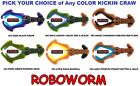 RoboWorm Kickin Craw -4 Inch Jig Trailer Handpoured Soft Plastic Bait -Any Color