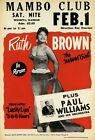 AD64 Vintage 1950's Ruth Brown Mamba Club Poster Re-Print A3/A4