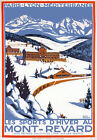 TX180 Vintage Mont-Revard Winter Sports French France Travel Poster A3/A4