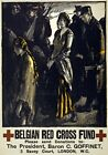 WA29 Vintage WWI Belgium Red Cross Fund Raising War Poster WW1 A1/A2/A3/A4