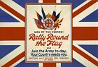 WA4 Vintage WWI British Rally Round The Flag Recruitment Poster WW1 A1/A2/A3/A4