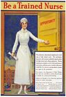 W21 Vintage WWI Be A Trained Nurse World War Medical Poster WW1 A1/A2/A3/A4