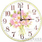 Shabby Chic Vintage Style 'Nature Nurtures The Soul' Pink Flowers Wall Clock