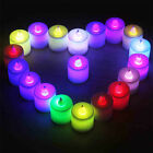 LED Colourful Flameless Changing Colour Flickering Tea Candle Light with Battery
