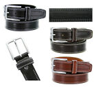 Mens Italian Calfskin Leather Dress Casual Double Stitch Embossed Belt 3 Colors