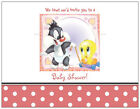 20 Baby Girl TWEETY & SYLVESTER Looney  SHOWER INVITATIONS Post/Flat Cards