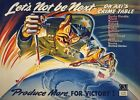 WB45 Vintage WW2 Lets Not Be Next American WWII War Poster Re-Print A1/A2/A3/A4