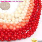 "Graduated white / red / pink coral jewelry making beads strand 15"" 6-10mm/6-12mm"