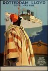 TX231 Vintage Rotterdam Lloyd Egypt Java Shipping Cruise Travel Poster A2/A3/A4