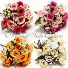 1 Bouquet Artificial Silk Roses Flower Home Garden Wedding Decoration Craft DIY