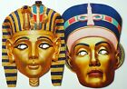 Historical Egyptian Face Masks - Great for Parties - 1st Class Post