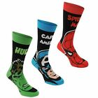 Marvel Kids 3 Pack Crew Socks Child Infs C3-C7 Sunglasses Prints
