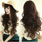 New Fashion Cosplay Brown Wig Women's Hand Weave Curly Wavy Full Long Hair Wigs