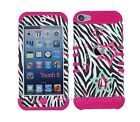 For iPod Touch 5th 6th GEN Colorful Stars Zebra Hybrid Rugged Armor Case Cover
