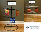 Planet Racks 2 Tier 12 Single Peg Rotating Counter Display - Black or White