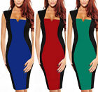 Occident Womens Optical Illusion Bodycon Wiggle Pencil Party Work Office Dress