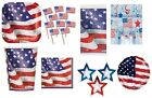 USA AMERICA AMERICAN PARTY TABLEWARE DECORATIONS STARS 4TH JULY THANKSGIVING