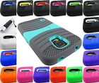 FOR SAMSUNG GALAXY S5 V 5 EXO STRETCH DUAL LAYER HYBRID CASE COVER+STYLUS/PEN
