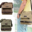 Classic Boys Mens Women Shoulder Bags Canvas Cross Body Leather Casual Zip New