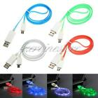 LED Light Micro USB Charger Data Sync Cable for HTC Samsung Galaxy Note S4 S3