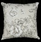 lf335a Black Off White Flower High Quality Cotton Canvas Cushion/Pillow Cover