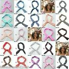 Bunny Ears Ribbon Tie Bow Bendy Wire/wired Hair Scarf Head Wrap Band