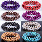 """20mm Multi-color Howlite turquoise beaded stretchable bracelet 8"""""""