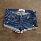 NWT HOLLISTER HCO Womens Classic Dark Wash Midi Length  Denim Shorts $39.50