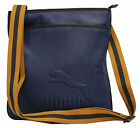 Puma Edition Portable Logo Blue PU Zip Shoulder Strap Bag (071791 01) D1
