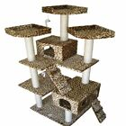 "GoPetClub 74"" Cat Tree Toy House Condo Scratcher Furniture"