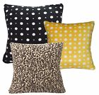 Black Grey Brown Dot Leopards Soft Fleece Cushion Cover/Pillow Case Custom Size