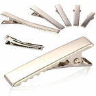10 20 30 50 100XSmall Medium Lot Silver Crocodile Alligator Bow Blank Hair Clips