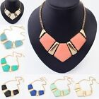Womens Fashion Gems Vintage Bib Statement Necklace Chain Chunky Collar Party