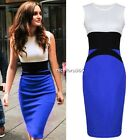 Women  Midi Bodycon Ladie Pencil Evening Slimming Panel Tea Dress N4U8