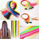 "8 Straks 22"" High Light Streaks CLIP IN HAIR EXTENSIONS Chose colours"