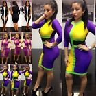 Hot Women one Shoulder Sleeve Clubbing Cocktail Party Wear Stretch Bodycon Dress