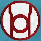 "Large 8"" inch Red Lantern Corps Classic Style Embroidered Iro0n-On Patch"