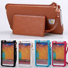 LUXURY stand wrist belt leather Case cover skin for Samsung GALAXY Note 3 N9000