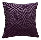 wg03a Purple Geometric 3D Check Cotton Throw Pillow Case Cushion Cover*Cust Size