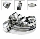 Stainless Steel Hose Clips Pipe Clamps - Choose Size - Jubilee Jcs Type W4